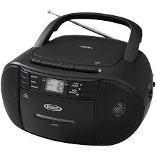 jensen cd 545 portable stereo cd player with cassette recorder am fm radio