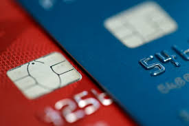 photo shows chip credit cards