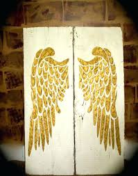 wall arts angel wings wall art attractive wing ensign collections decor large los angeles