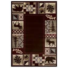 balta national preserve beige indoor lodge area rug common 5 x 7 actual
