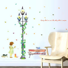 large wall stickers streetlight girl street view large wall stickers home decor living room art decals