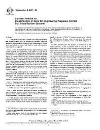 Pdf Designation D 2487 00 Classification Of Soils For