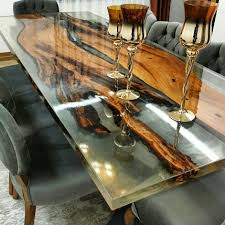 Resin Poured Wood Table Architecture And Interior Design Wohn