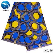 <b>LIULANZHI african wax</b> fabric <b>Java</b> wax fabric Latest blue mix yellow ...