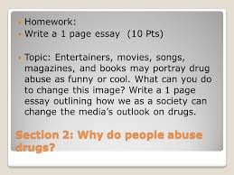 chapter drugs of abuse ppt video online section 2 why do people abuse drugs