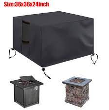 gas fire cover square waterproof heavy