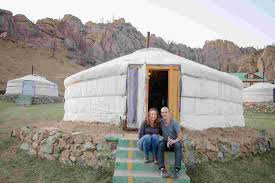 stay in a traditional ger in a mongolian camp