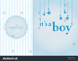 Baby Boy Announcements Templates Baby Boy Arrival Announcement Card Perfect Stock Vector Royalty