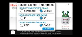 Honeywell Refrigerant Chart Pt Chart Refrigerants Eu On The App Store