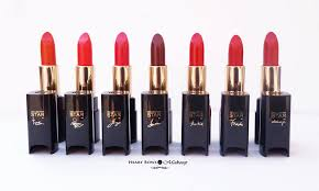 l 39 oreal collection star red lipsticks review swatches shades r indian bridal makeup kit