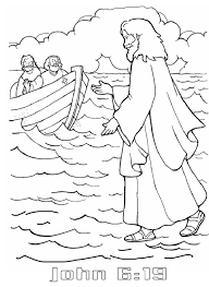 Small Picture Jesus Walks On The Water Coloring Pages In Walks On Water With The