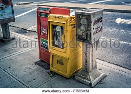 Newspaper Vending Machine For Sale Mesmerizing Free Newspaper Boxes On The Street New York City America USA A