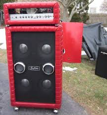Kustom 1x12 Cabinet Motion Sound Leslie In Kustom Cabinet On Top Of Kustom 4x10 Copyjpg