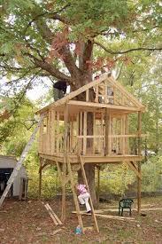 Unique Kids Tree House Plans Designs Free Build Pinterest Throughout Creativity Design