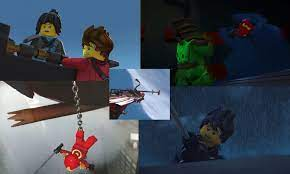 Everyone talks about the time Cole fell off the Bounty, but no one talks  about the hundreds of times Kai nearly fell off.: Ninjago