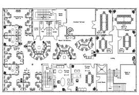 office space plan. Example - A Open/Private Office Space Plan