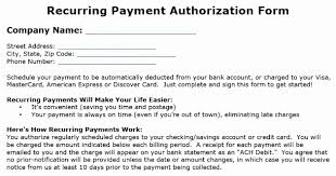 Recurring Payment Authorization Form Payment Authorization Form Template Fresh Payment Authorization Form