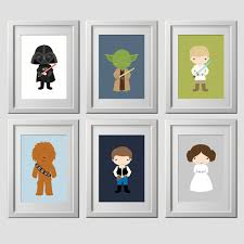 >star wars nursery wall decor custom colors starwars wall