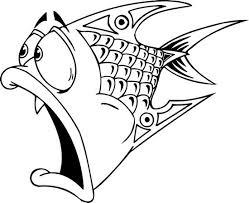 Dieren Kleurplaten Een Grappige Vis