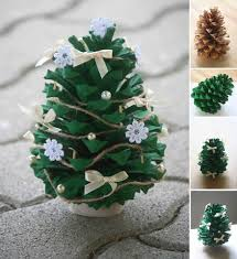 Pine Cone Christmas Decorations Wonderful Diy Lifetime Fabric Pine Cone Ornaments