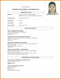 Comfortable Curriculum Vitae Filetype Doc Pictures Inspiration