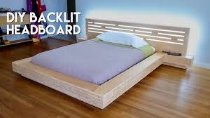 modern plywood furniture. DIY Modern Plywood Platform Bed Part 2 : LED Backlit Headboard Build - Woodworking Furniture