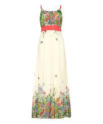 Iska London Size Chart Ivory Pink Floral Maxi Dress By Iska London Zulily