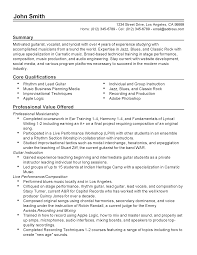 Prepossessing Professional Musician Resume Example About Musicians