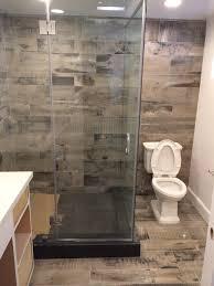 brilliant design wood look tile bathroom reclaimed shower sbl home