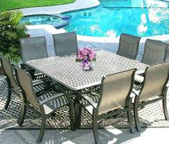 8 person patio table dining set for cast aluminium garden furniture seats round
