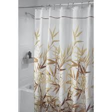 interdesign anzu fabric shower curtain stall