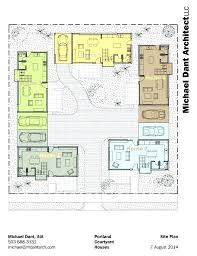 courtyard modern house plans house plans courtyard house plan lovely house plans e story with courtyard