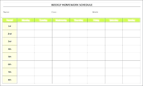 Student Schedule Excel Class Schedule Template Excel Thaimail Co