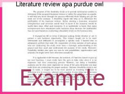 literature review example apa literature review apa purdue owl essay academic service