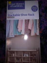 better homes gardens 16pr stackable shoe rack for in indianapolis in offerup