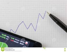 Handwriting Up Trend Chart On Graph Paper With Black Pen And