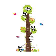 Children S Height Measurement Chart Winhappyhome Pandas Childrens Height Measurement Chart Tree