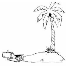Small Picture Deserted Island Coloring Page