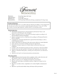 Front Office Resume Examples Front Desk Resume Sample Pleasing Hotel Front Desk Resume Examples 22