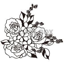 無料イラスト シルエットフラワーアレンジ 薔薇