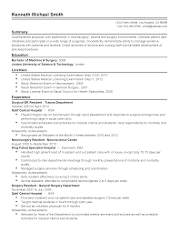 professional surgical er resident doctor templates to showcase resume templates surgical er resident doctor