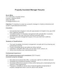 Resume For Property Manager Property Manager Resume Sample Within