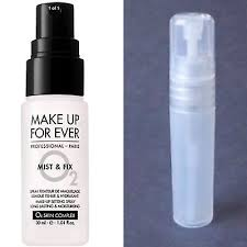 makeup forever mist and fix settingspray 5ml sle in clear bottle read listing