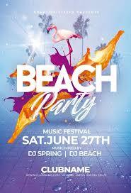 Beach Flyer Download Beach Party Flyer Psd Template Creativeflyers