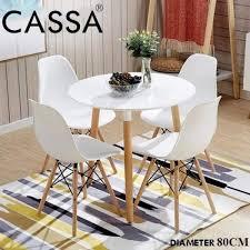 Cassa Eames Kitchen Dining Table Carpenter Round Coffee Table White