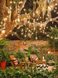 garden lighting design. Hanging Lights Can Feel Almost Magical, Like Stardust Or Fireflies Are Dangling Over Your Garden Lighting Design O