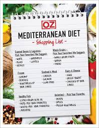Meditation Diet Chart Dr Ozs Mediterranean Diet Shopping List The Dr Oz Show