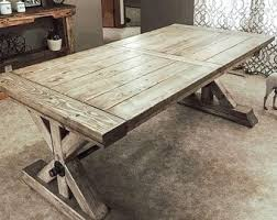 Trestle Dining Farmhouse Extension Trestle Table Farmhouse Table Rustic Table Dining Table Andy Rawls Farmhouse Table With Bench Etsy