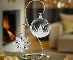 Christmas Ornament Display Stands Delectable SWAROVSKI CHROME ORNAMENT DISPLAY STAND LARGE
