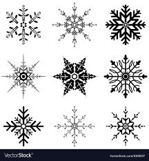 Snowflake Designs For Christmas Royalty Free Vector Image